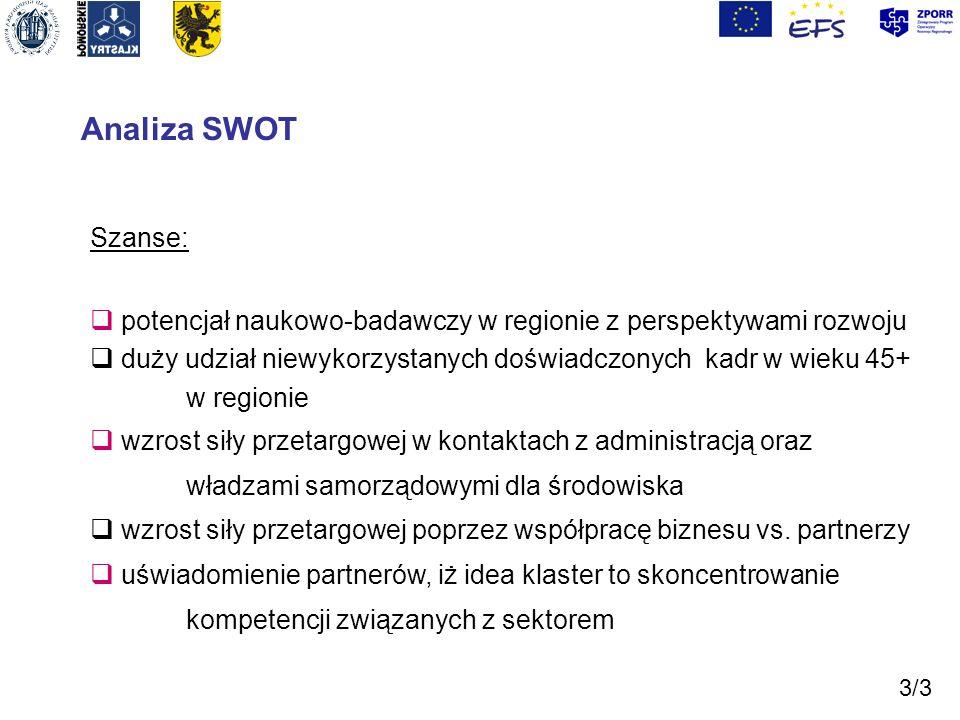 Analiza SWOT Szanse: potencjał naukowo-badawczy w regionie z perspektywami rozwoju.