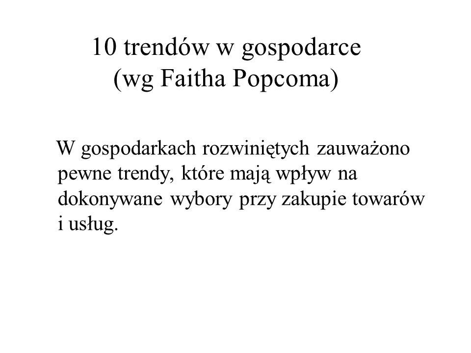 10 trendów w gospodarce (wg Faitha Popcoma)