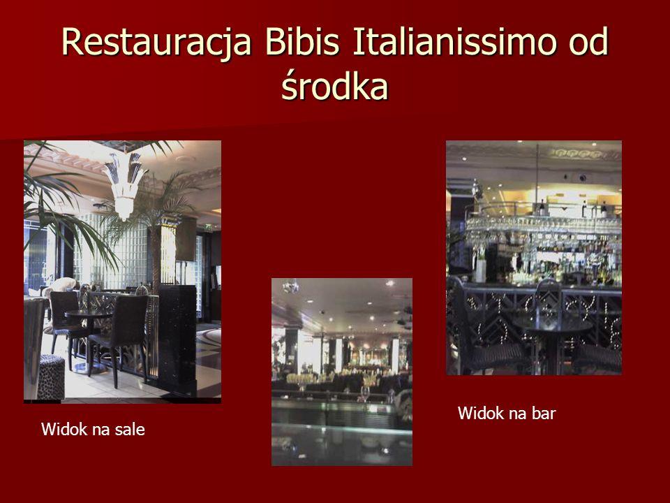 Restauracja Bibis Italianissimo od środka