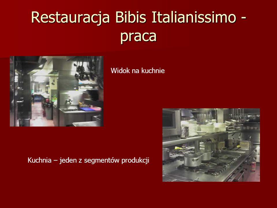 Restauracja Bibis Italianissimo - praca