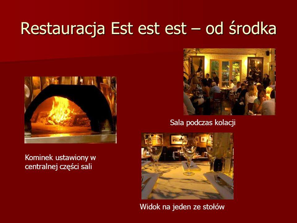 Restauracja Est est est – od środka
