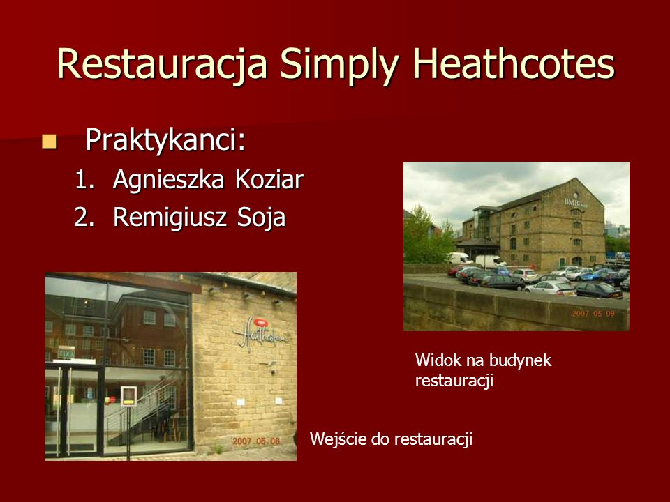 Restauracja Simply Heathcotes