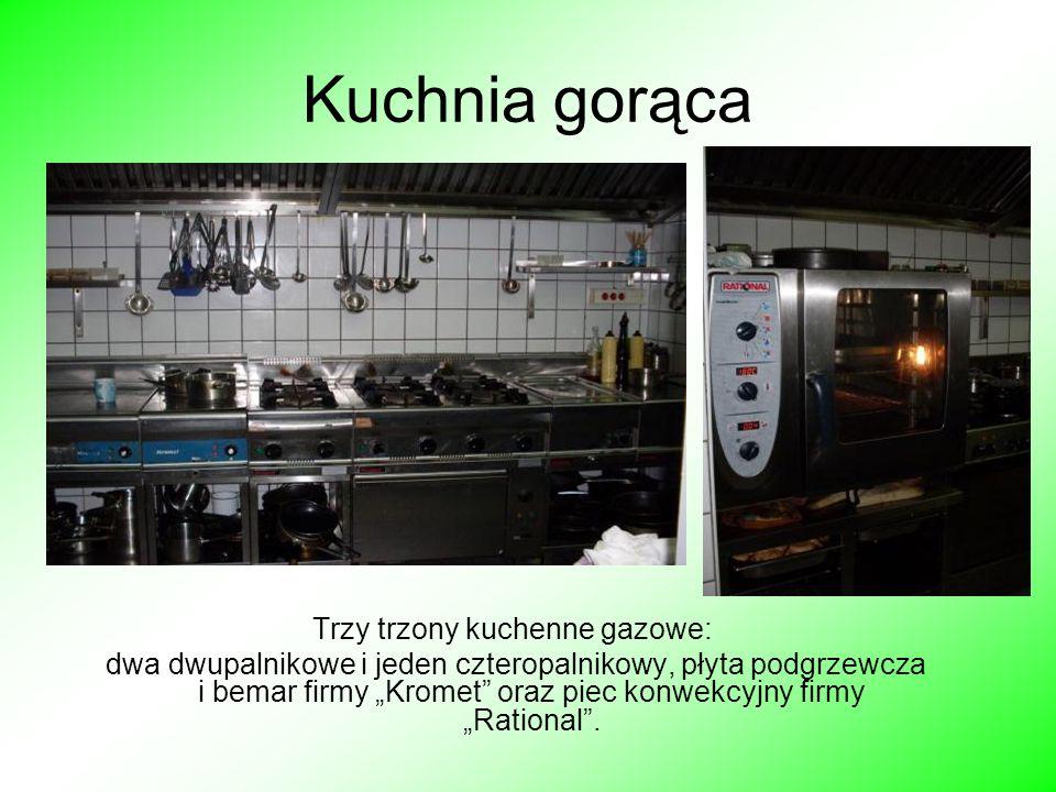 Trzy trzony kuchenne gazowe: