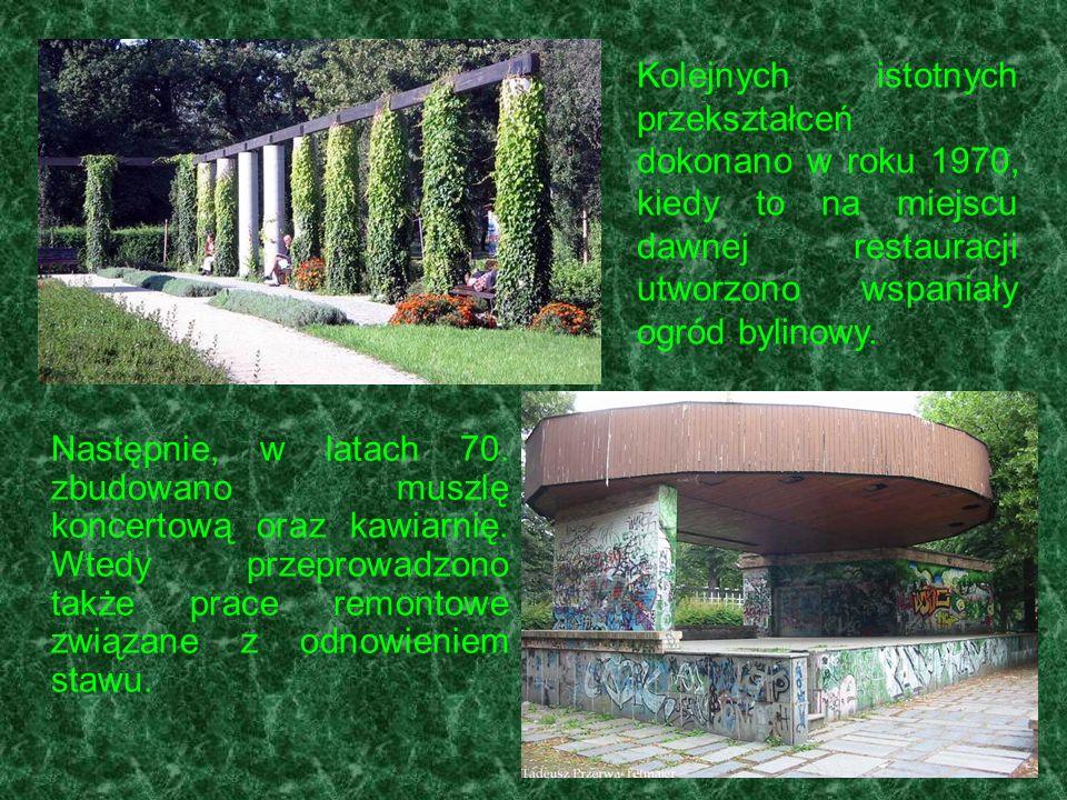 Kolejnych istotnych przekształceń dokonano w roku 1970, kiedy to na miejscu dawnej restauracji utworzono wspaniały ogród bylinowy.