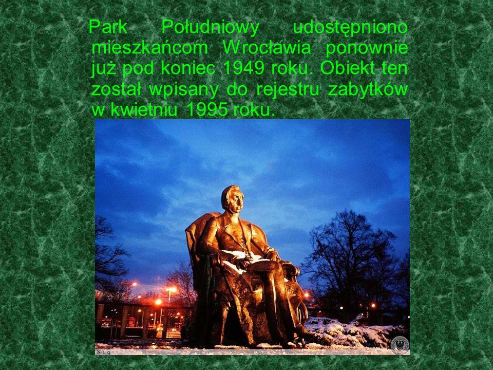 Park Południowy udostępniono mieszkańcom Wrocławia ponownie już pod koniec 1949 roku.