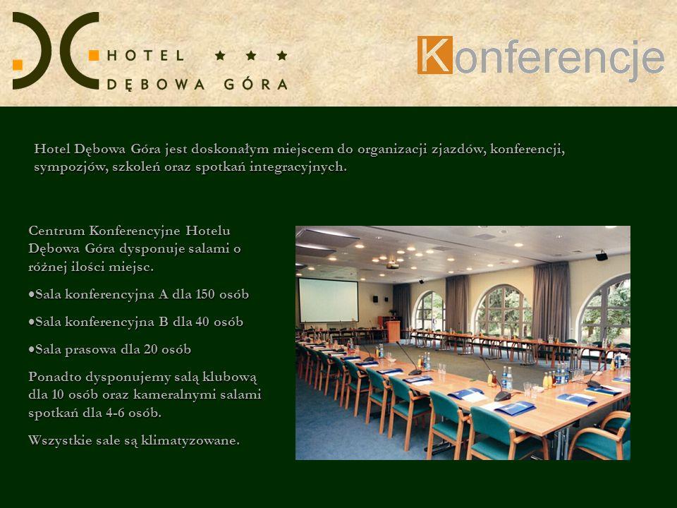 Hotel Dębowa Góra jest doskonałym miejscem do organizacji zjazdów, konferencji, sympozjów, szkoleń oraz spotkań integracyjnych.