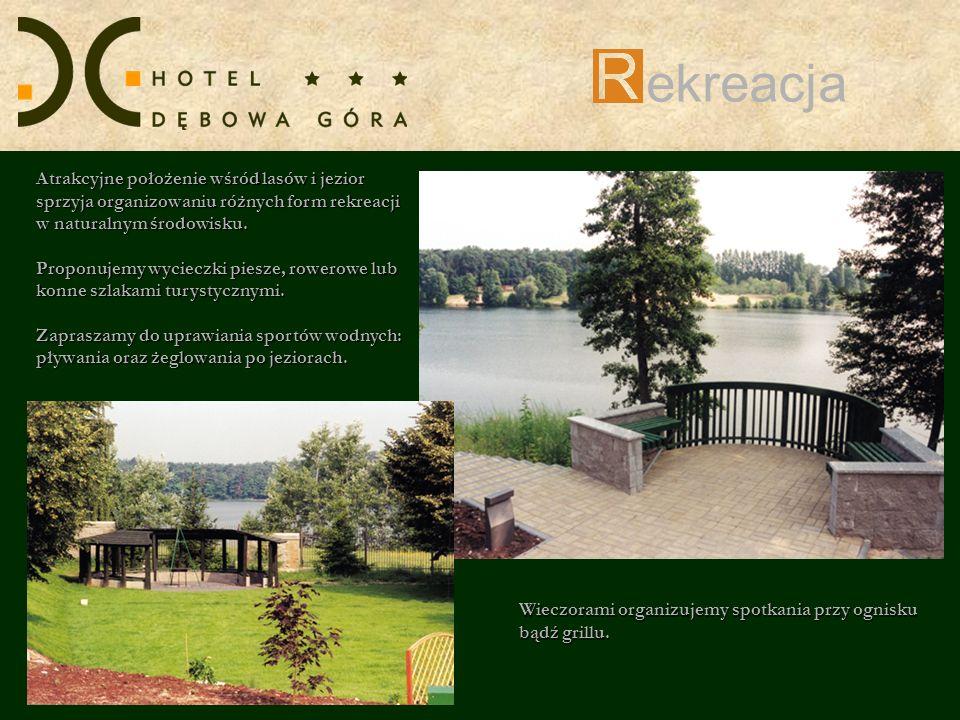 ekreacja Atrakcyjne położenie wśród lasów i jezior sprzyja organizowaniu różnych form rekreacji w naturalnym środowisku.