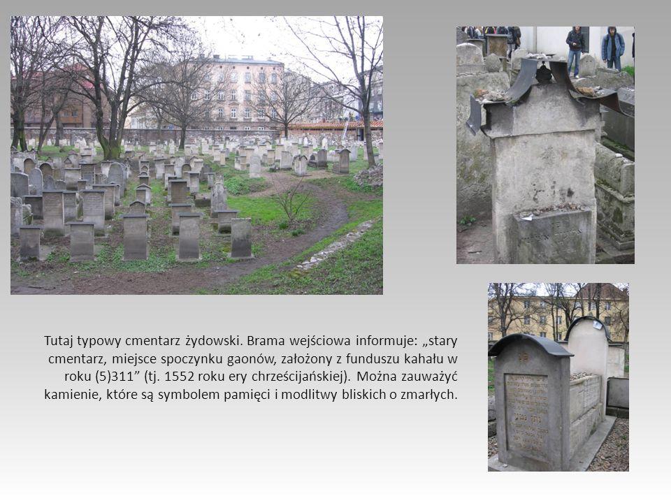 Tutaj typowy cmentarz żydowski