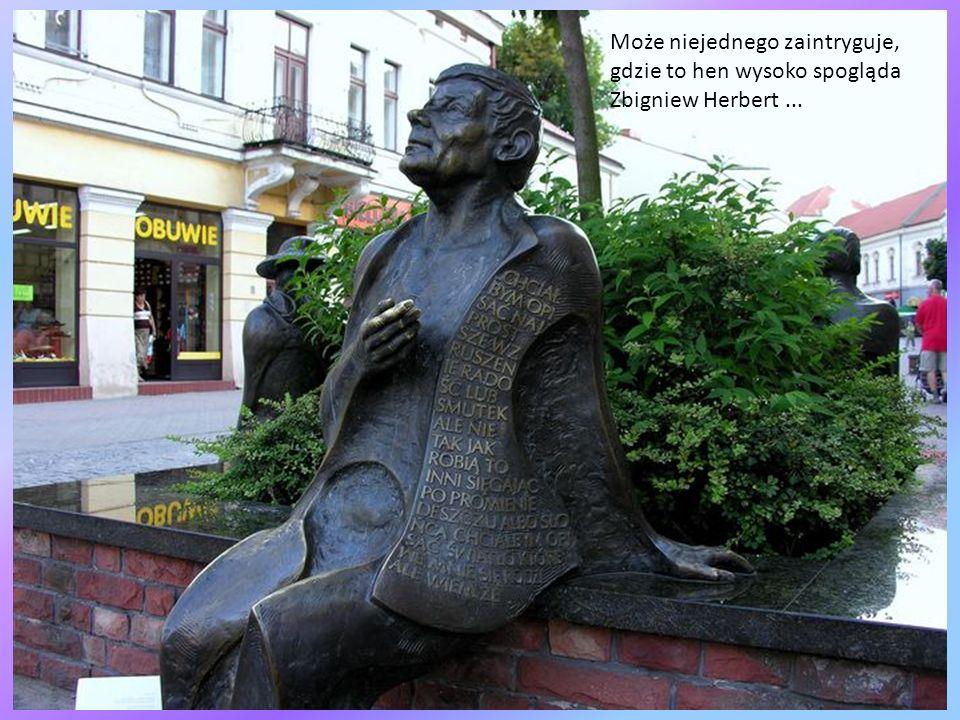 Może niejednego zaintryguje, gdzie to hen wysoko spogląda Zbigniew Herbert ...