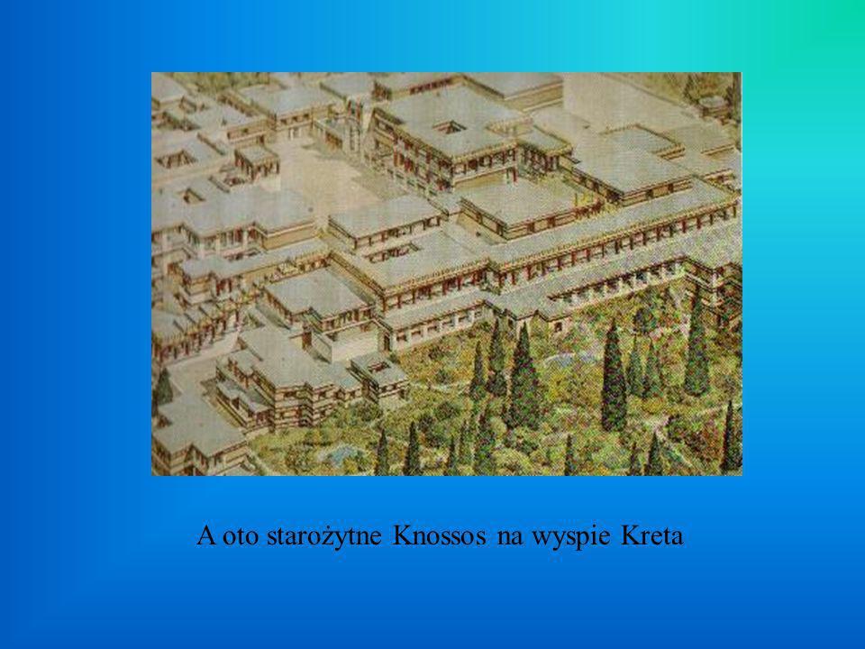 A oto starożytne Knossos na wyspie Kreta