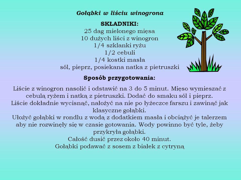 Gołąbki w liściu winogrona