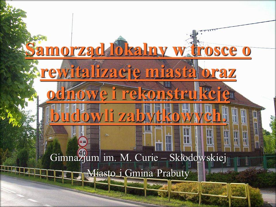 Gimnazjum im. M. Curie – Skłodowskiej Miasto i Gmina Prabuty