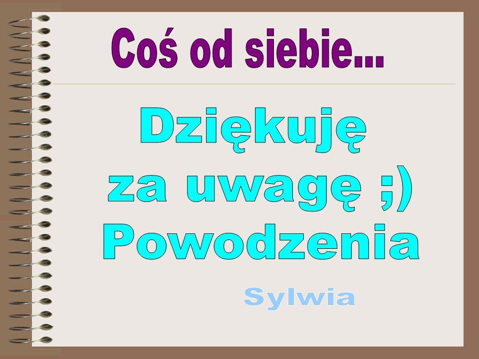 Coś od siebie... Dziękuję za uwagę ;) Powodzenia Sylwia