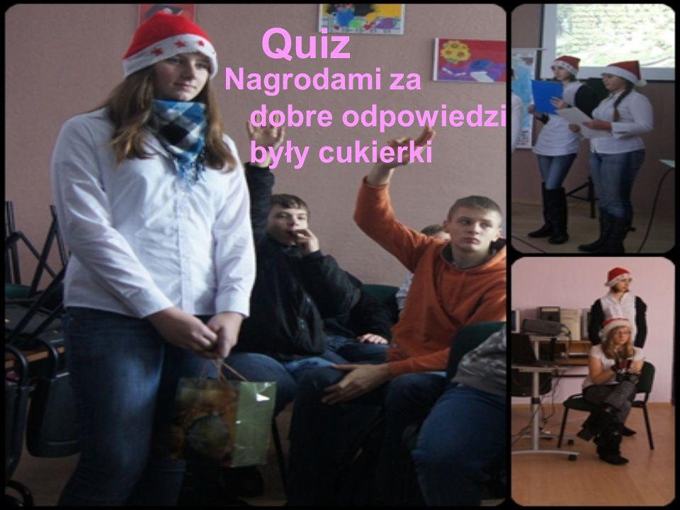 Quiz Nagrodami za dobre odpowiedzi były cukierki