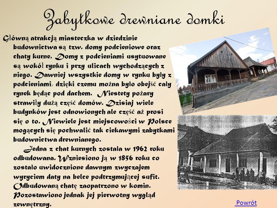 Zabytkowe drewniane domki
