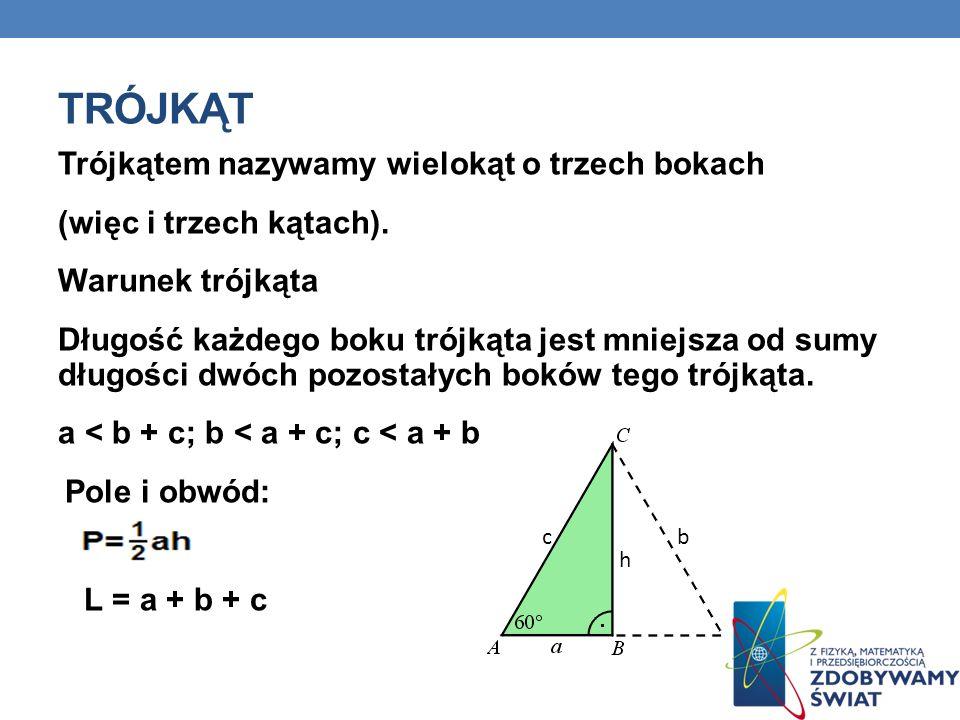 trójkąt Trójkątem nazywamy wielokąt o trzech bokach