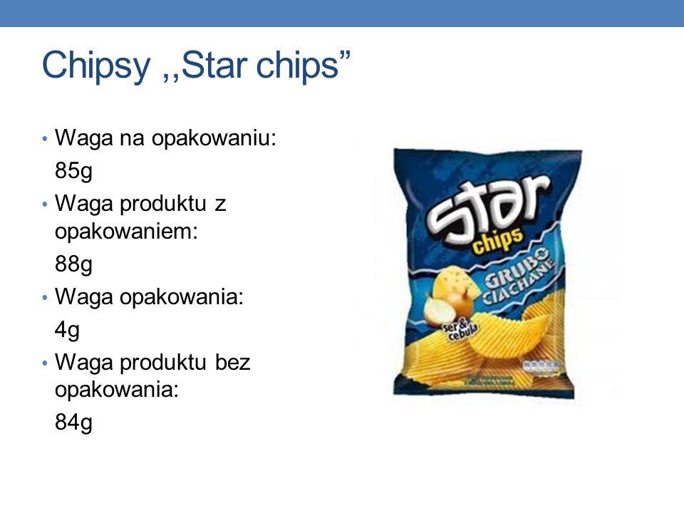Chipsy ,,Star chips Waga na opakowaniu: 85g