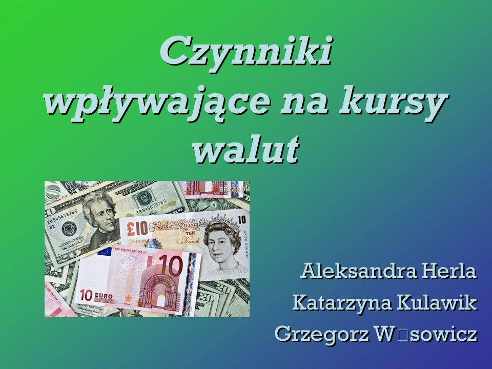 Czynniki wpływające na kursy walut