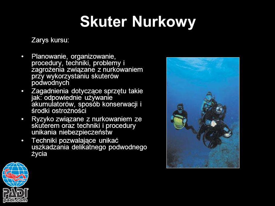 Skuter Nurkowy Zarys kursu: