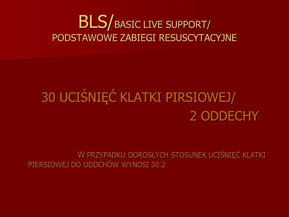 BLS/BASIC LIVE SUPPORT/ PODSTAWOWE ZABIEGI RESUSCYTACYJNE