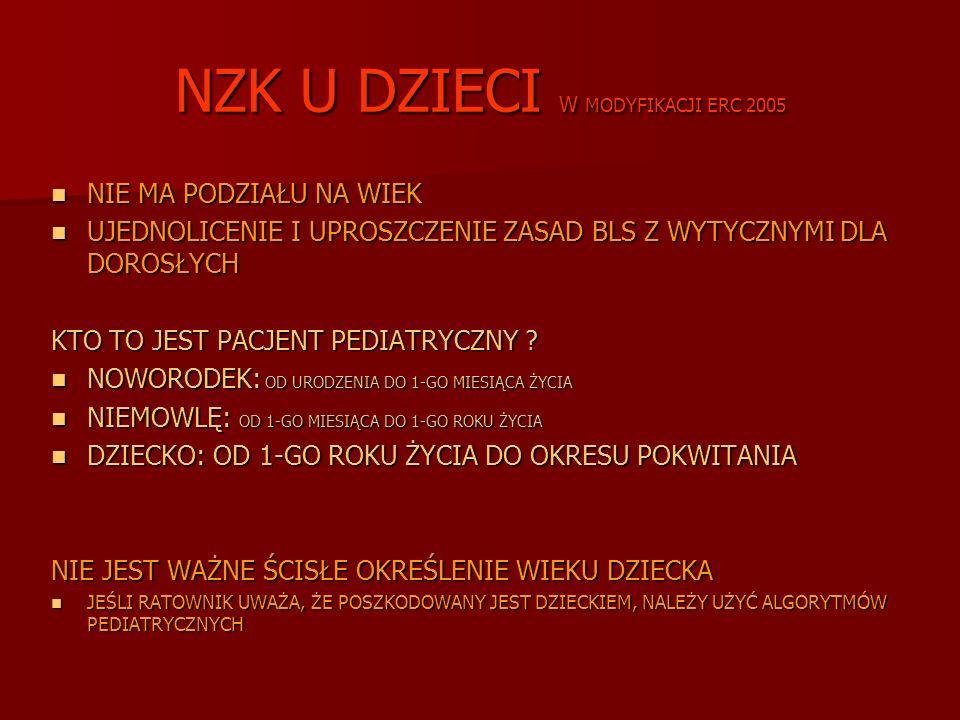 NZK U DZIECI W MODYFIKACJI ERC 2005