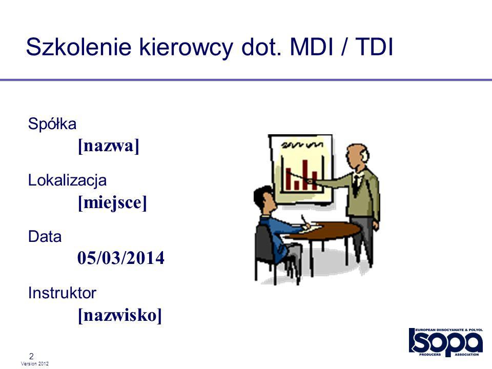 Szkolenie kierowcy dot. MDI / TDI