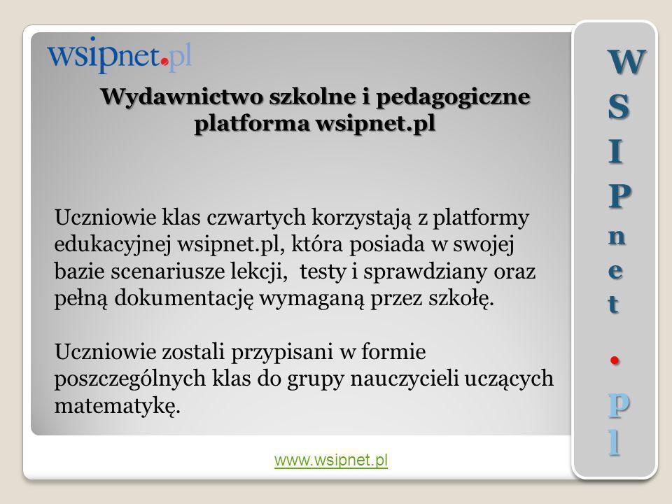 Wydawnictwo szkolne i pedagogiczne platforma wsipnet.pl