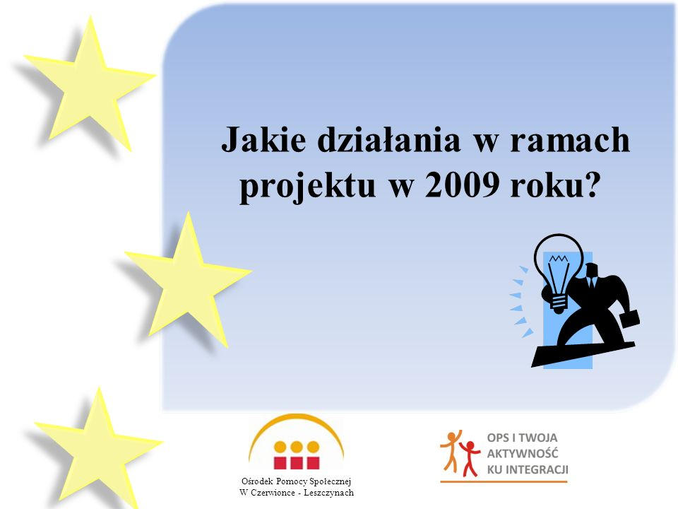 Jakie działania w ramach projektu w 2009 roku