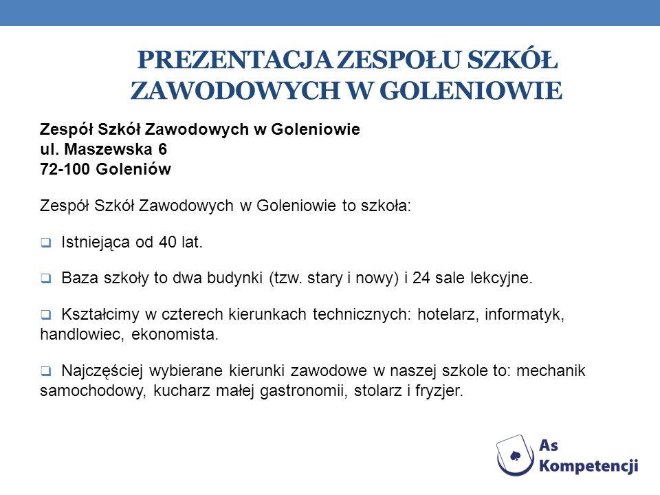 Prezentacja Zespołu Szkół Zawodowych w Goleniowie