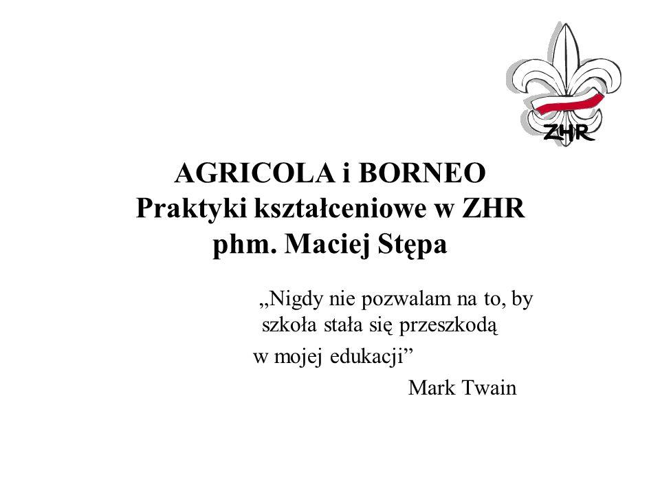 AGRICOLA i BORNEO Praktyki kształceniowe w ZHR phm. Maciej Stępa