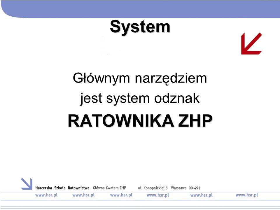 System Głównym narzędziem jest system odznak RATOWNIKA ZHP