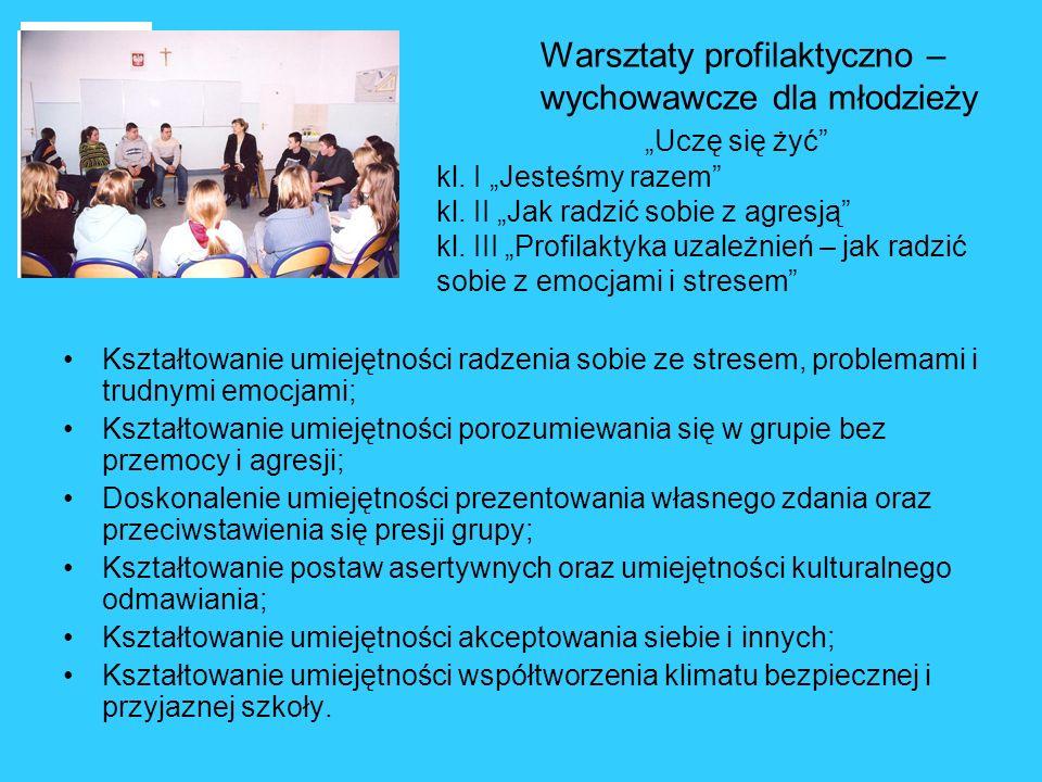 Warsztaty profilaktyczno –. wychowawcze dla młodzieży