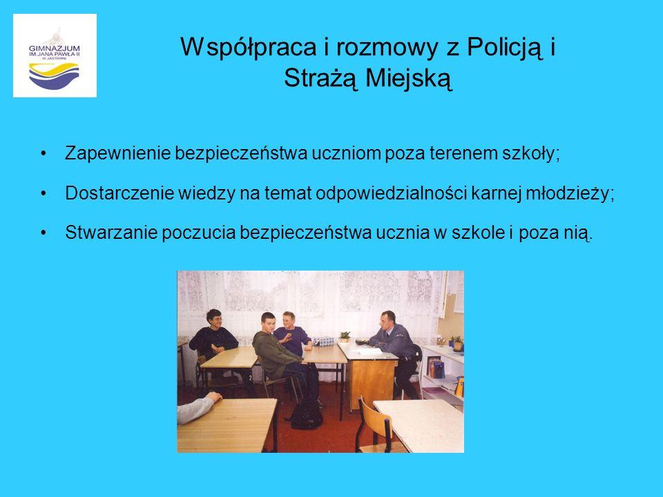 Współpraca i rozmowy z Policją i Strażą Miejską
