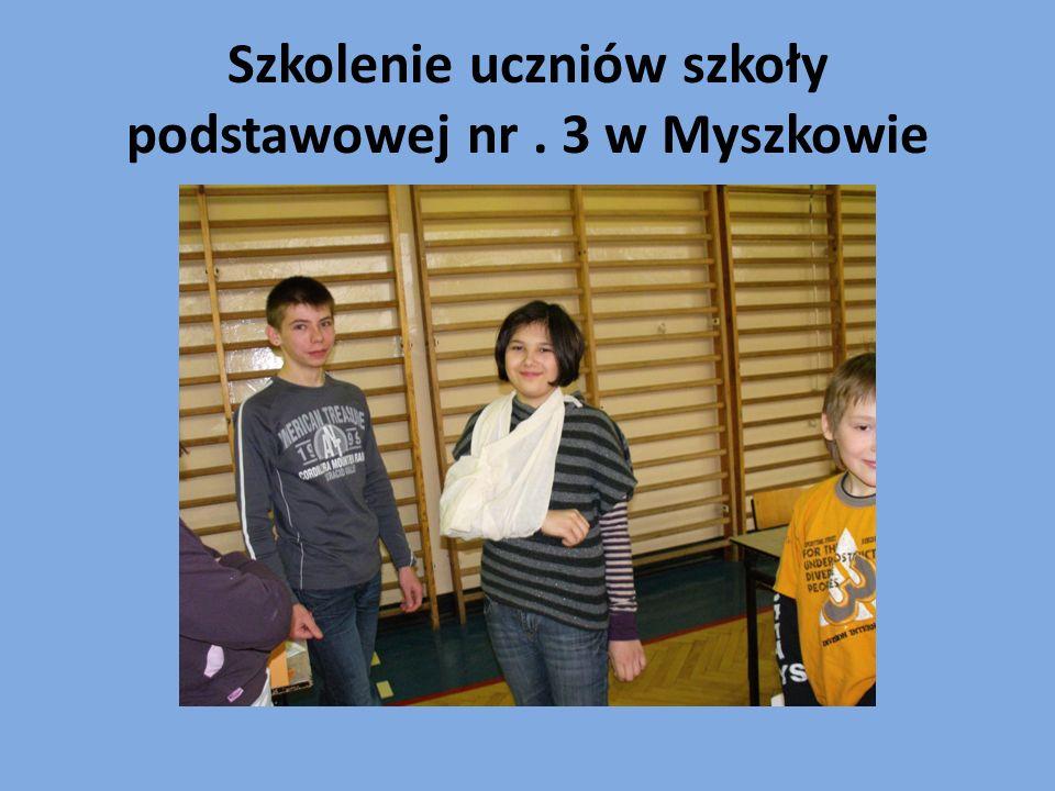 Szkolenie uczniów szkoły podstawowej nr . 3 w Myszkowie