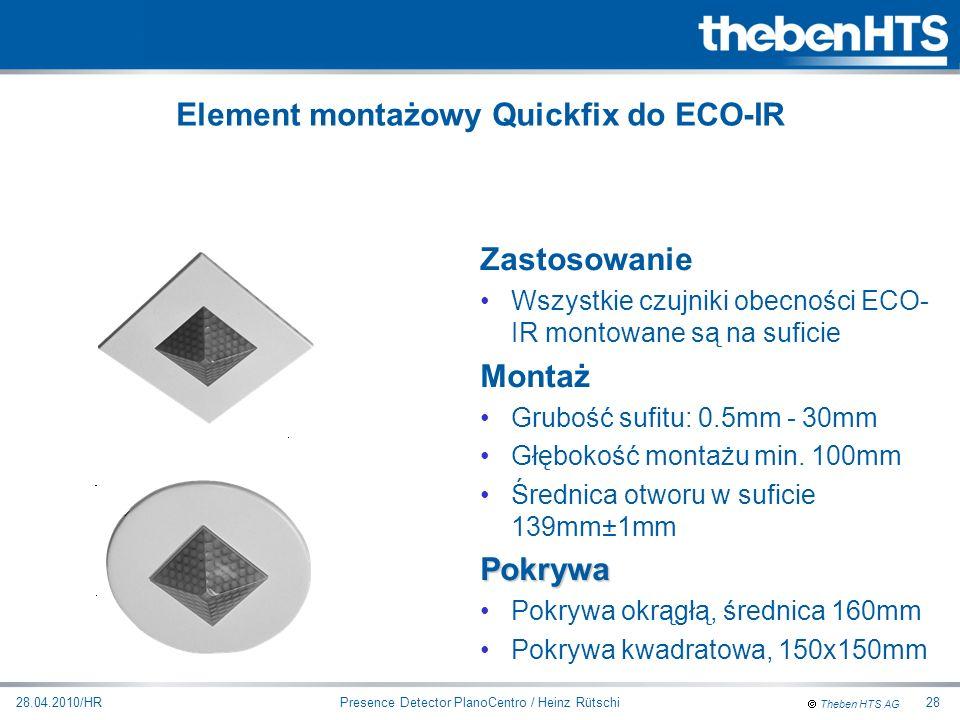 Element montażowy Quickfix do ECO-IR