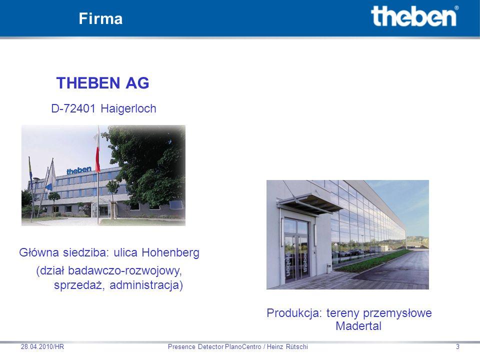 Firma THEBEN AG D-72401 Haigerloch Główna siedziba: ulica Hohenberg
