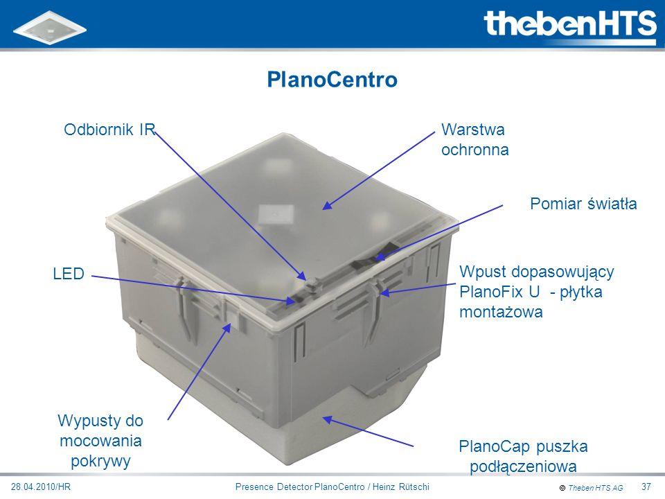 PlanoCentro Odbiornik IR Warstwa ochronna Pomiar światła LED