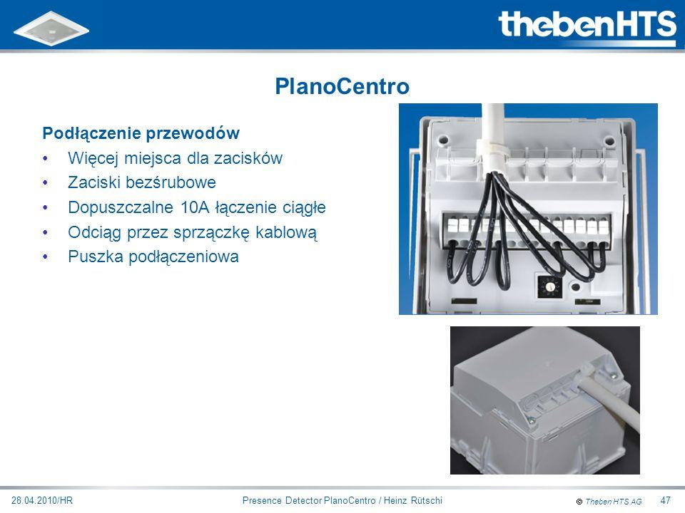 Presence Detector PlanoCentro / Heinz Rütschi