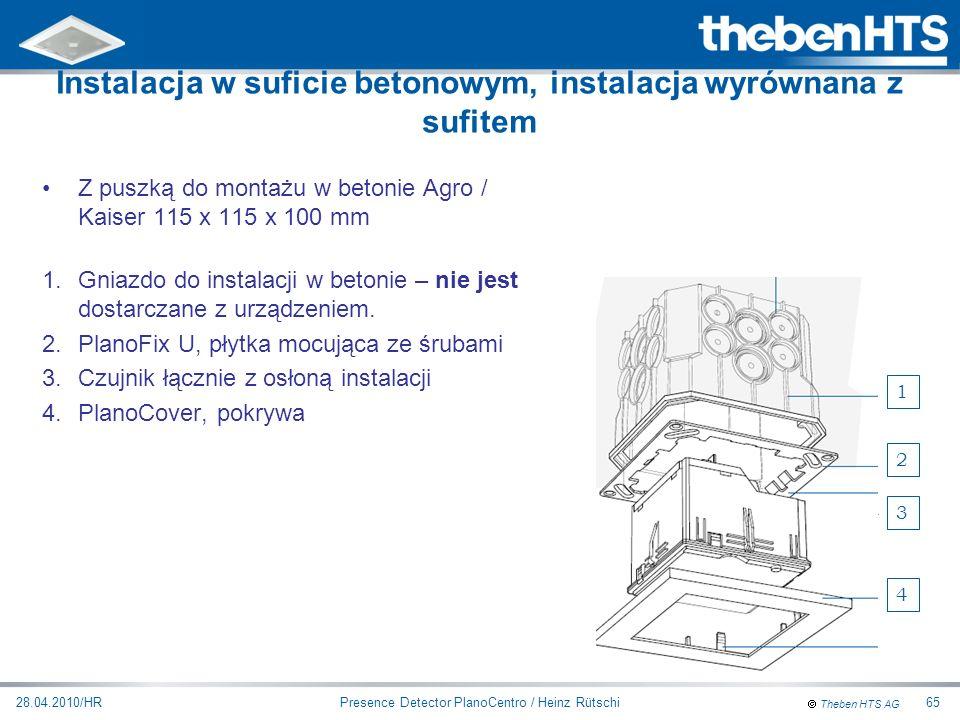 Instalacja w suficie betonowym, instalacja wyrównana z sufitem