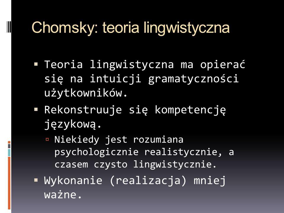 Chomsky: teoria lingwistyczna