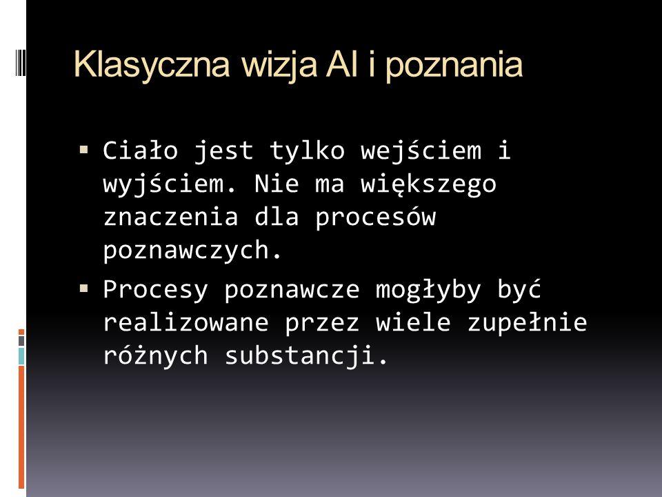 Klasyczna wizja AI i poznania