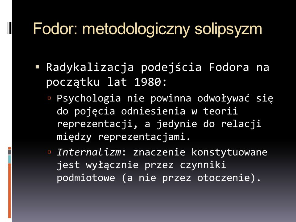 Fodor: metodologiczny solipsyzm