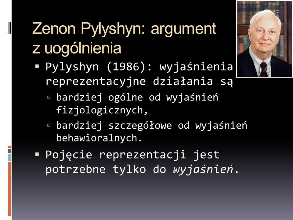 Zenon Pylyshyn: argument z uogólnienia