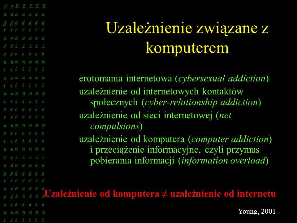Uzależnienie związane z komputerem