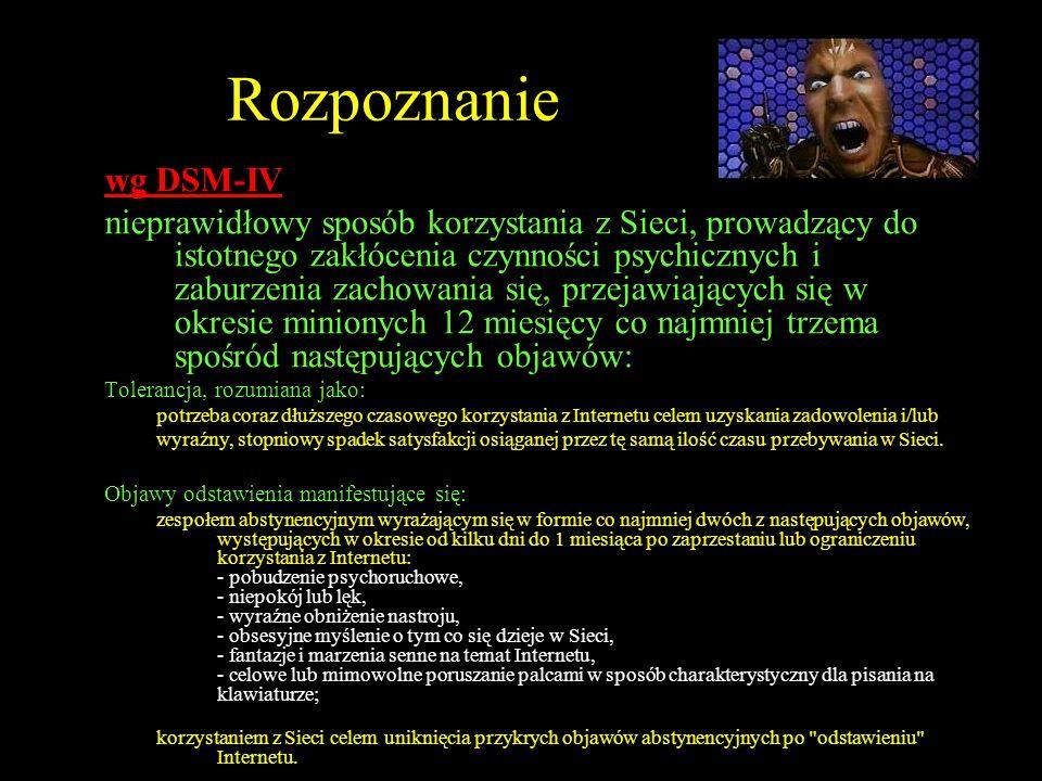 Rozpoznanie wg DSM-IV.
