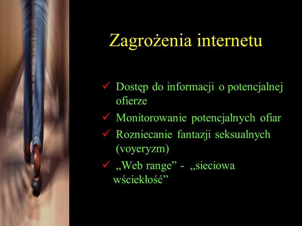 Zagrożenia internetu Dostęp do informacji o potencjalnej ofierze