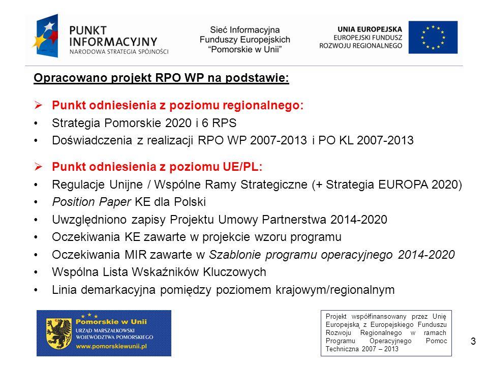 Opracowano projekt RPO WP na podstawie: