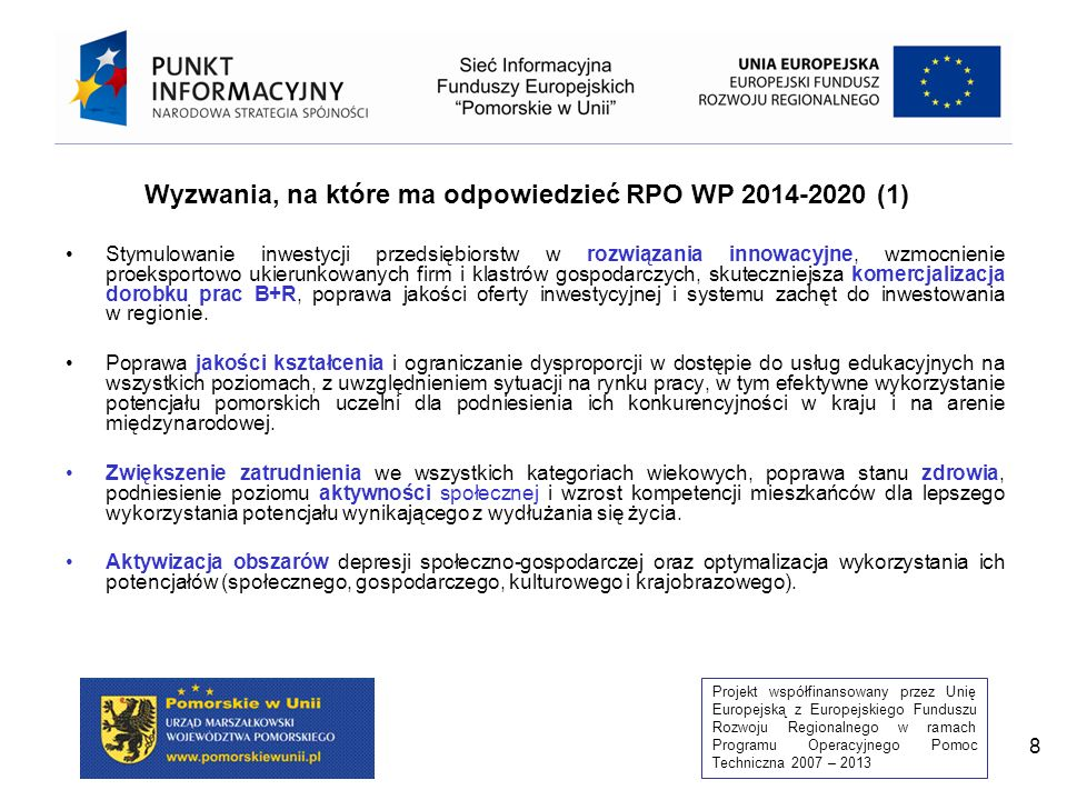 Wyzwania, na które ma odpowiedzieć RPO WP 2014-2020 (1)