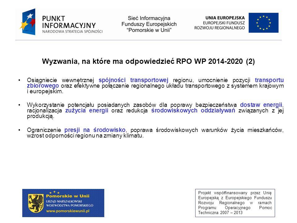 Wyzwania, na które ma odpowiedzieć RPO WP 2014-2020 (2)