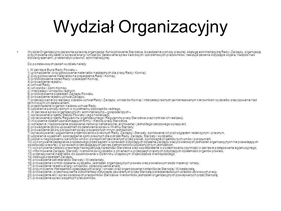 Wydział Organizacyjny